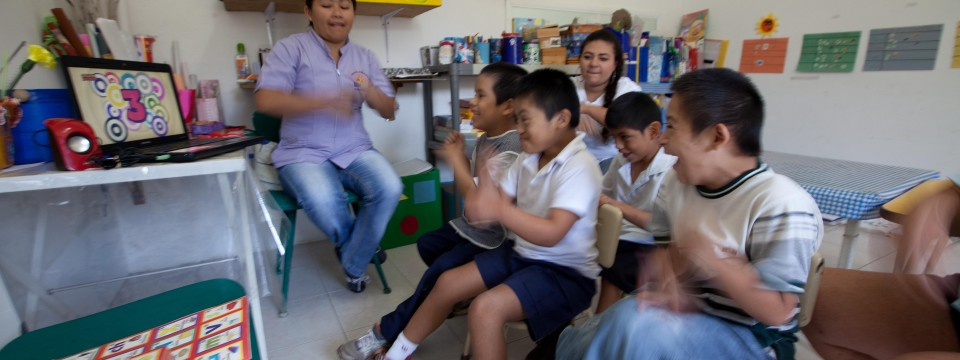 using music and video to engage lower functioning children